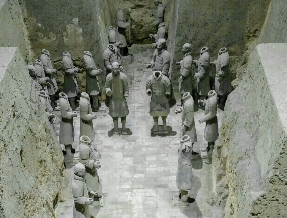 Terracotta warriors, pit 2