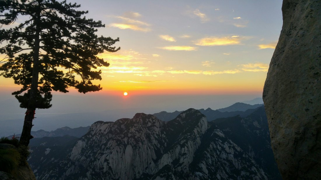 Mount Hua, sunrise at 5 am