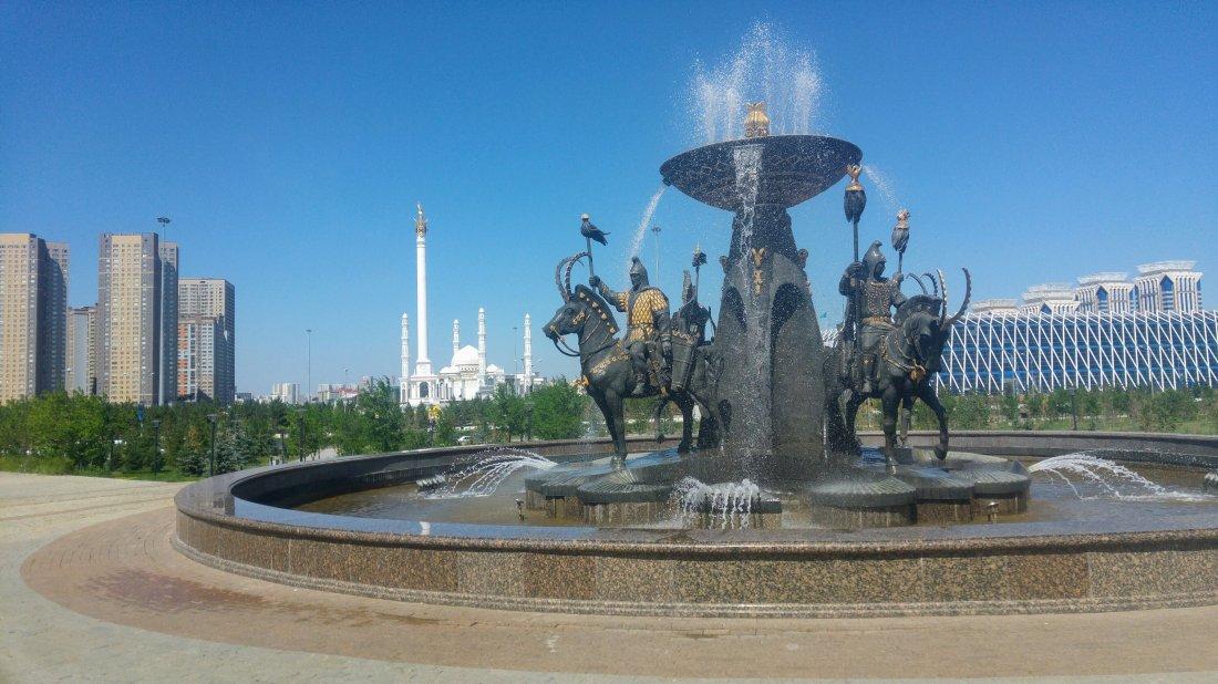 Outside National Kazakh Museum