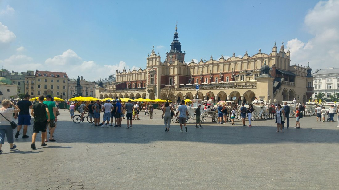 Cloth Hall with the Town Hall Tower in Krakow