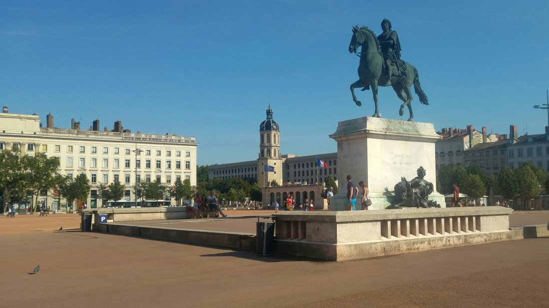 Place Bellecour, central square in Lyon