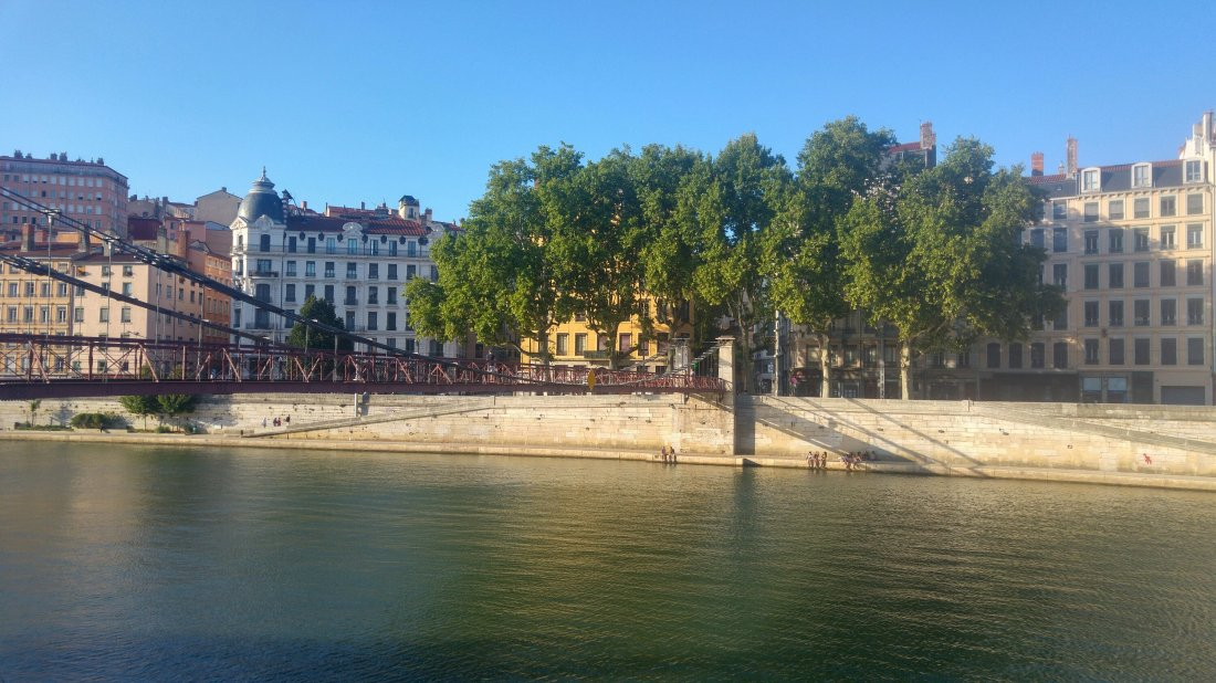 By Rhone river in Lyon
